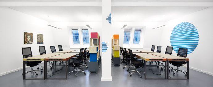 Coworking spaces Großraumbüros Berlin