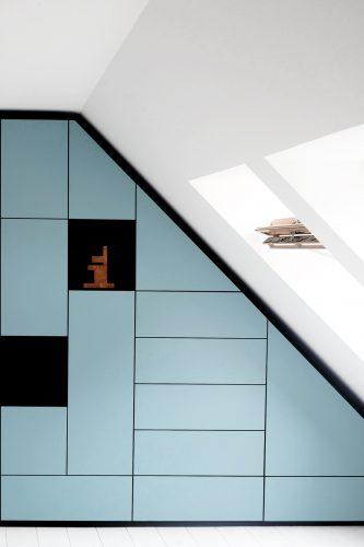 Schrankwand Schlafzimmer Dachschrägenschrank nach Maß Studio KERTI Berlin